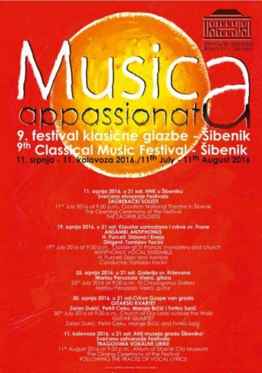 "9. festival klasične glazbe ""Musica appassionata"""